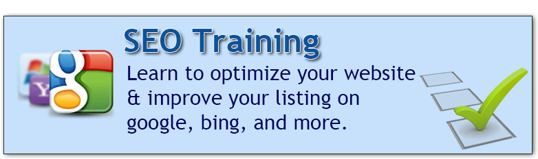 Search Engine Optimization Training in Los Angeles or Live Online from your home or office! Learn how to optimize your website, improve your organic listing on top search engines.