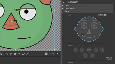 Learn how to tag bodyparts in Character Animator Training Class