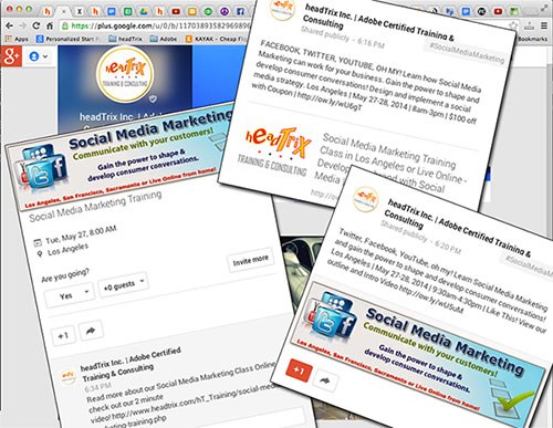 Social Media Marketing Training in Los Angeles or Live Online Training | Make Social Media work for You